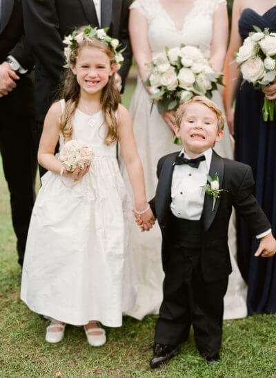 Ring Bearer Smiling at Southern Wedding